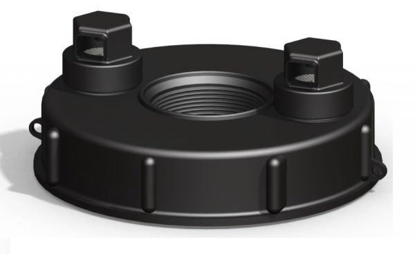 Vented 6″ IBC Lid with 2 side vents