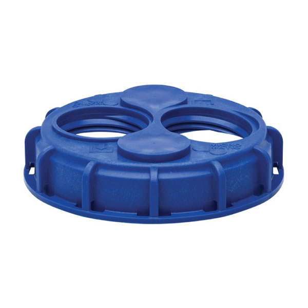 DEF 2 Bungs Coarse 6″ IBC Tote Lid Blue